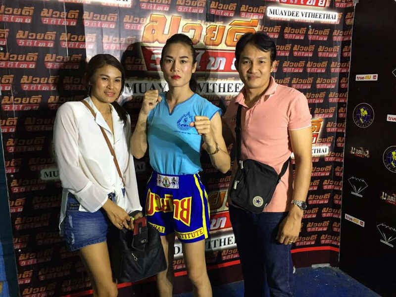 Angie Petchrungruang promo - first kathoey fighter at Lumpinee