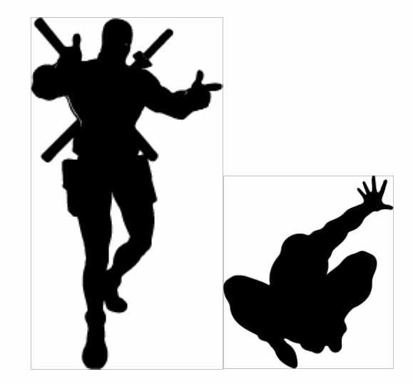 Sillouette of Super Heroes