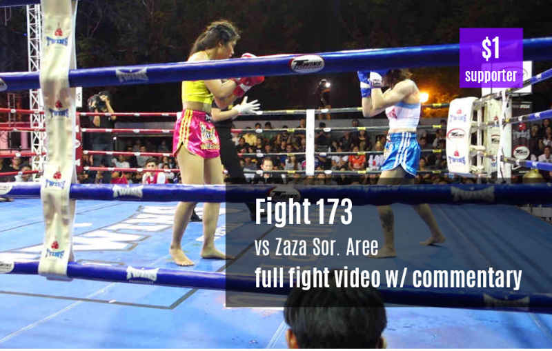 Fight 173 - Sylvie Petchrungruang vs Zaza Sor. Aree with commentary dollar