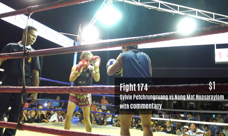Fight 174 - Sylvie Petchrungruang vs Nong Mat with Commentary Patreon