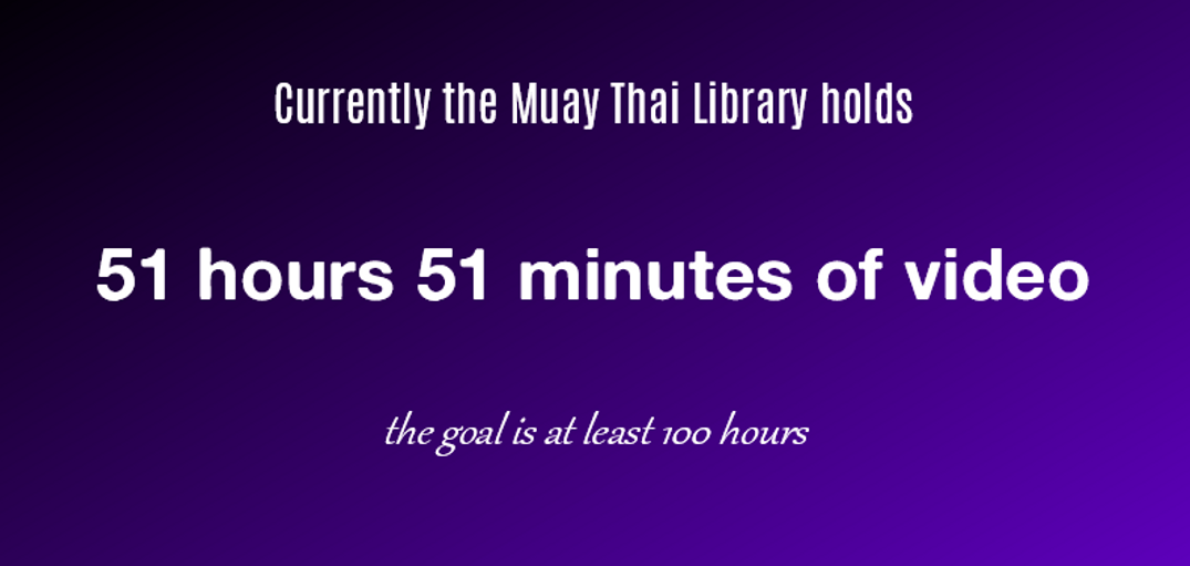 number of hours in the Muay Thai Library
